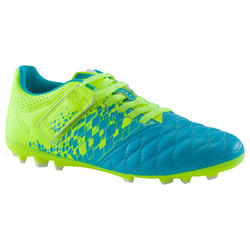 Kids' Football Boots with Rip-tab Agility 500 AG - Blue/Yellow