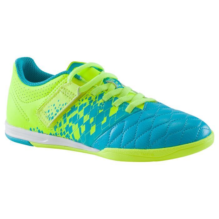 Chaussure de futsal enfant Agility 500 bleue à scratch - 1176492