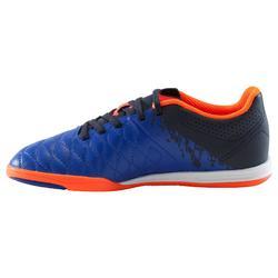 Hallenschuhe Futsal Fußball Agility 500 mit Klettverschluss Kinder blau