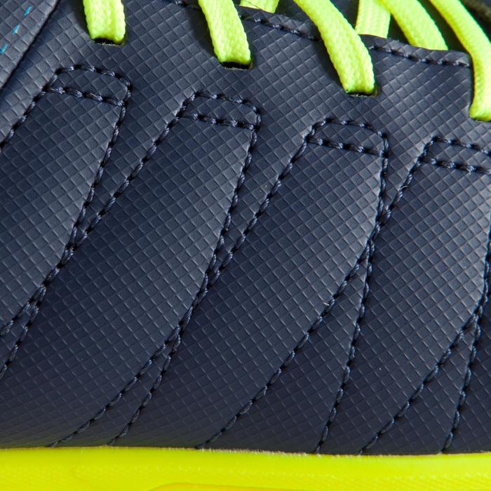 Zaalvoetbalschoenen kind CLR 500 sala klittenband blauw/geel - 1176523