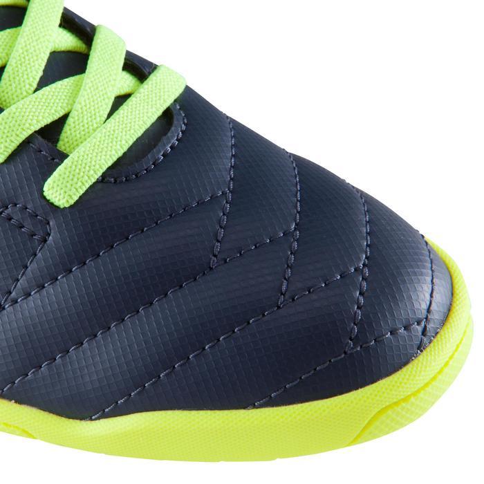 Zaalvoetbalschoenen kind CLR 500 sala klittenband blauw/geel - 1176525