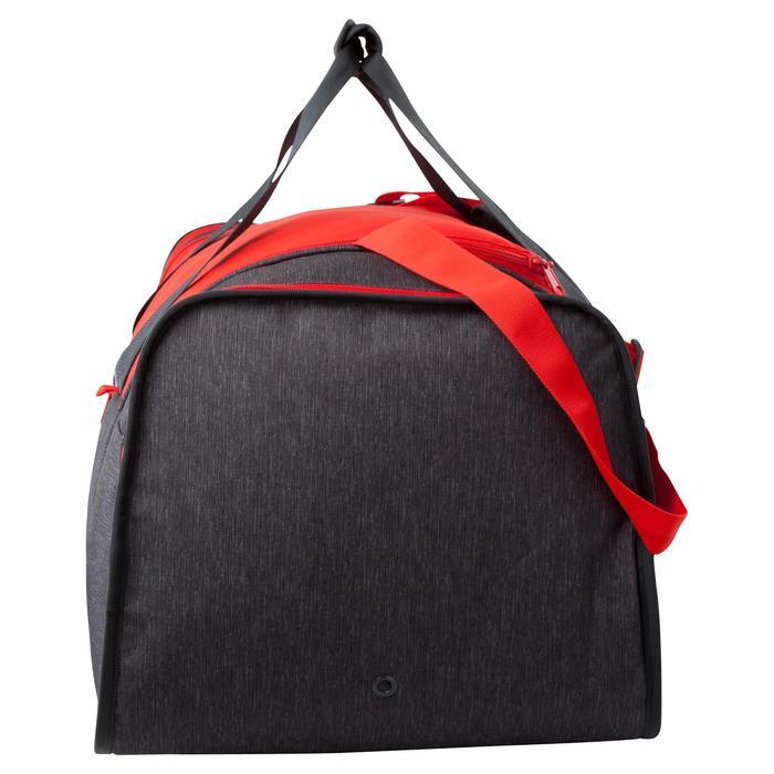 Bolsa de deportes colectivos Kipocket 80 litros gris rojo