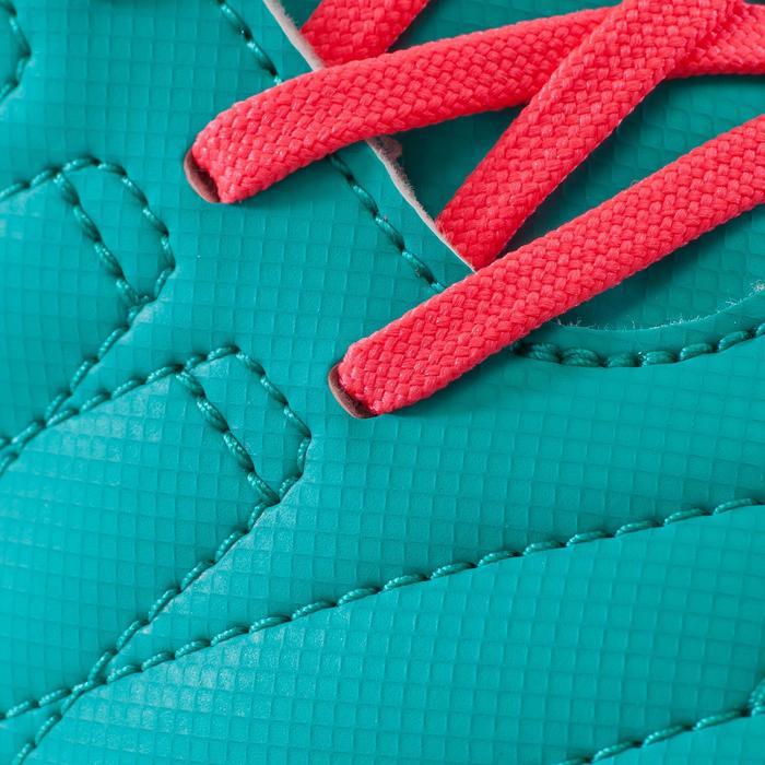 Chaussure de football enfant terrains durs CLR 500 HG verte rose