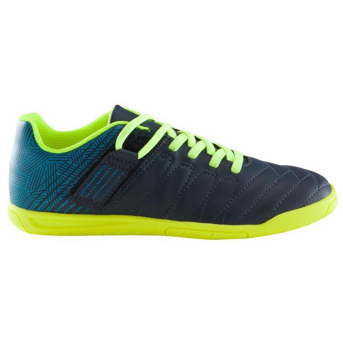 Zaalvoetbalschoenen kind CLR 500 sala klittenband blauw/geel - 1176556