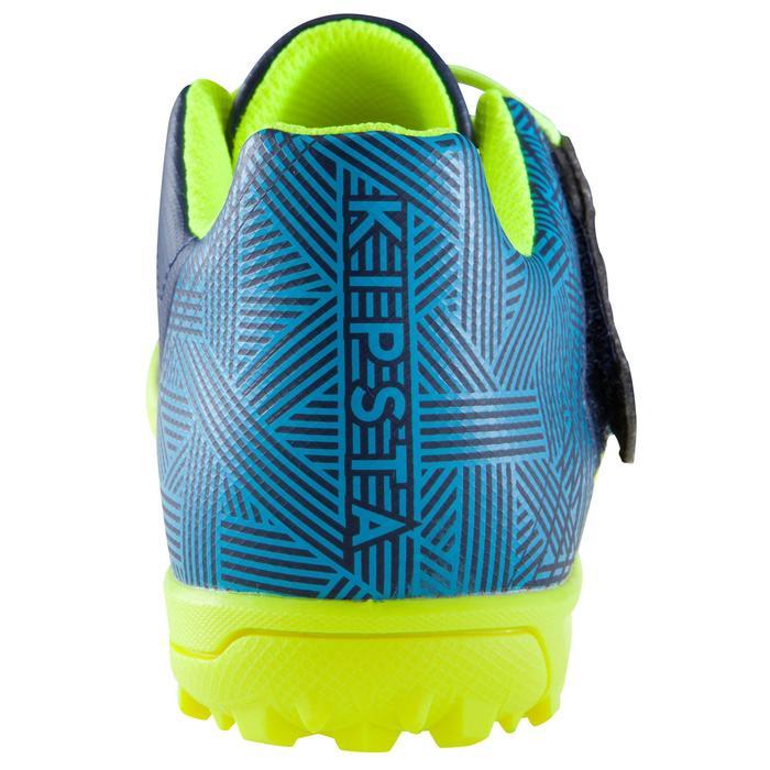 Chaussure de football enfant terrains durs Agility  300 HG à scratch bleue - 1176558