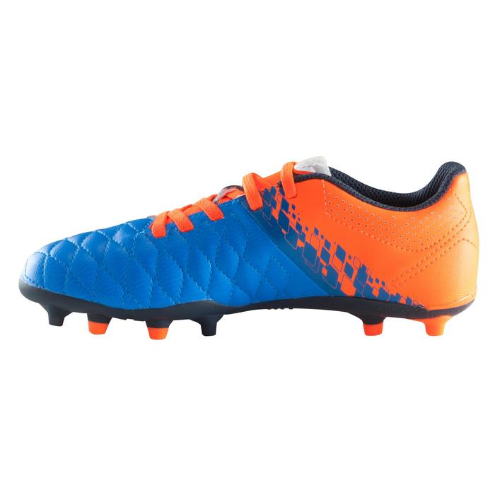 Chaussure de football enfant terrains secs Agility 500 FG bleu orange - 1176589