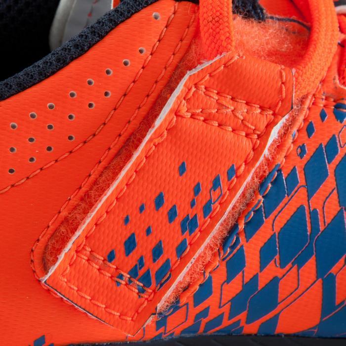 Chaussure de football enfant terrains secs Agility 500 FG bleu orange - 1176596