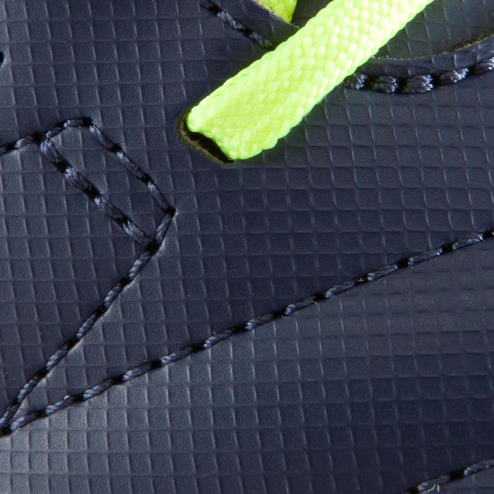 Zaalvoetbalschoenen kind CLR 500 sala klittenband blauw/geel - 1176617