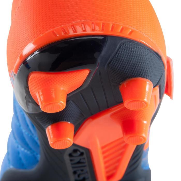 Chaussure de football enfant terrains secs Agility 500 FG bleu orange - 1176620