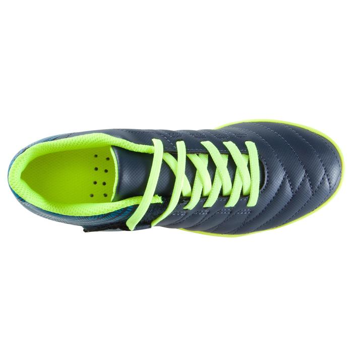 Zaalvoetbalschoenen kind CLR 500 sala klittenband blauw/geel - 1176633