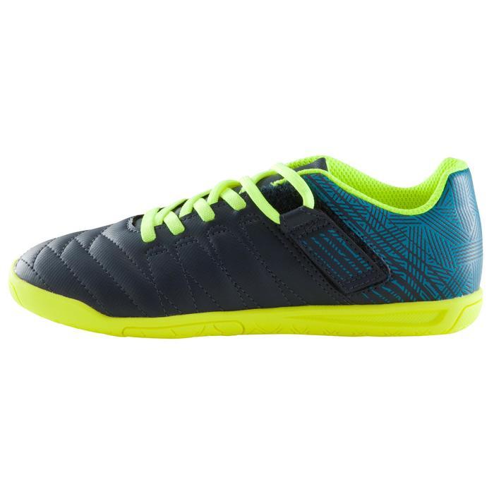 Zaalvoetbalschoenen kind CLR 500 sala klittenband blauw/geel - 1176639