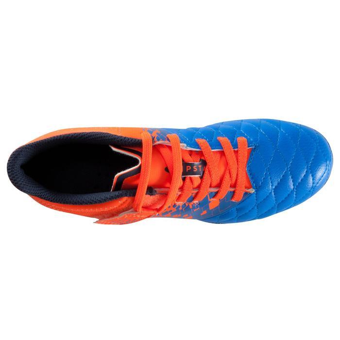 Chaussure de football enfant terrains secs Agility 500 FG bleu orange - 1176645