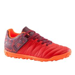 Agility 300 HG Kids' Rip-Tab Hard Ground Football Boots - Red/Orange