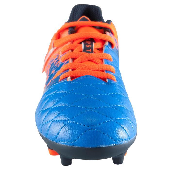 Chaussure de football enfant terrains secs Agility 500 FG bleu orange - 1176656
