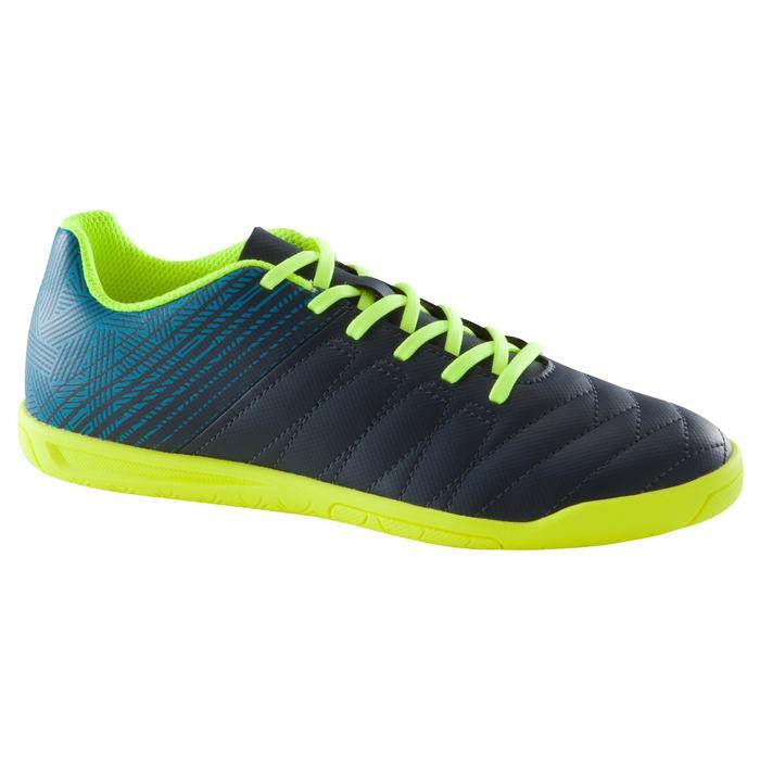 Zaalvoetbalschoenen voor kinderen CLR 500 blauw/geel