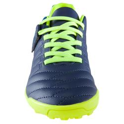 Agility 140 HG Kids' Hard Ground Rip-Tab Football Boots - Green/Yellow