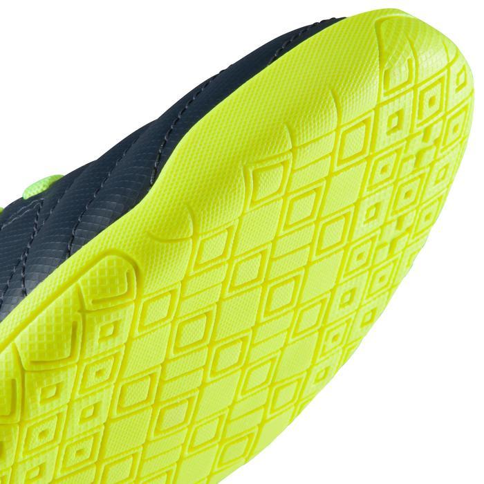 Zaalvoetbalschoenen kind CLR 500 sala klittenband blauw/geel - 1176673