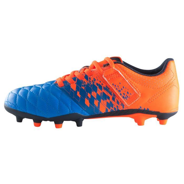 Chaussure de football enfant terrains secs Agility 500 FG bleu orange - 1176677