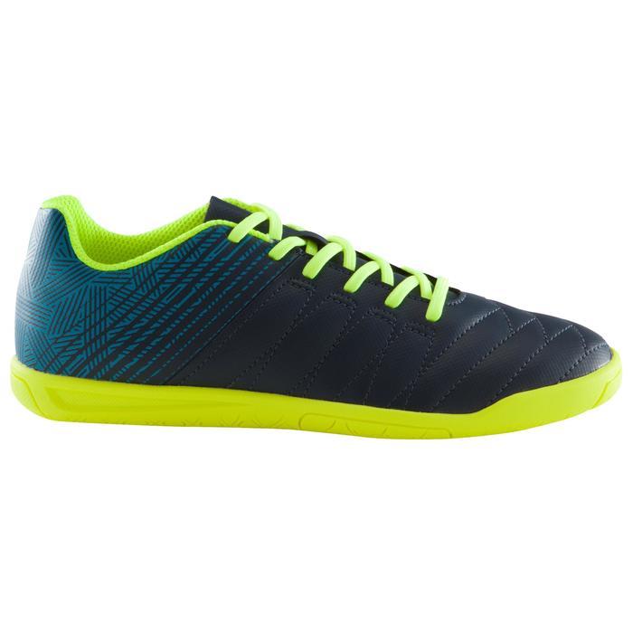 Hallenschuhe Futsal Fußball CLR 500 Kinder blau/gelb