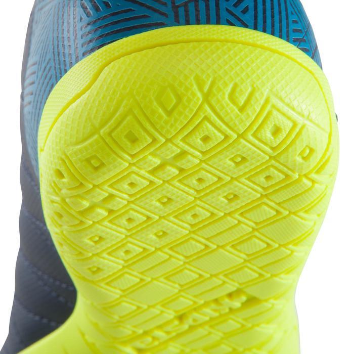 Zaalvoetbalschoenen kind CLR 500 sala klittenband blauw/geel - 1176704