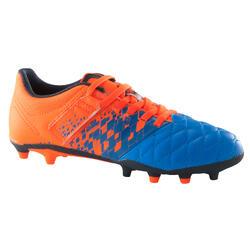 Botas de fútbol júnior terrenos secos Agility 500 FG azul naranja a8ad6f7b80290