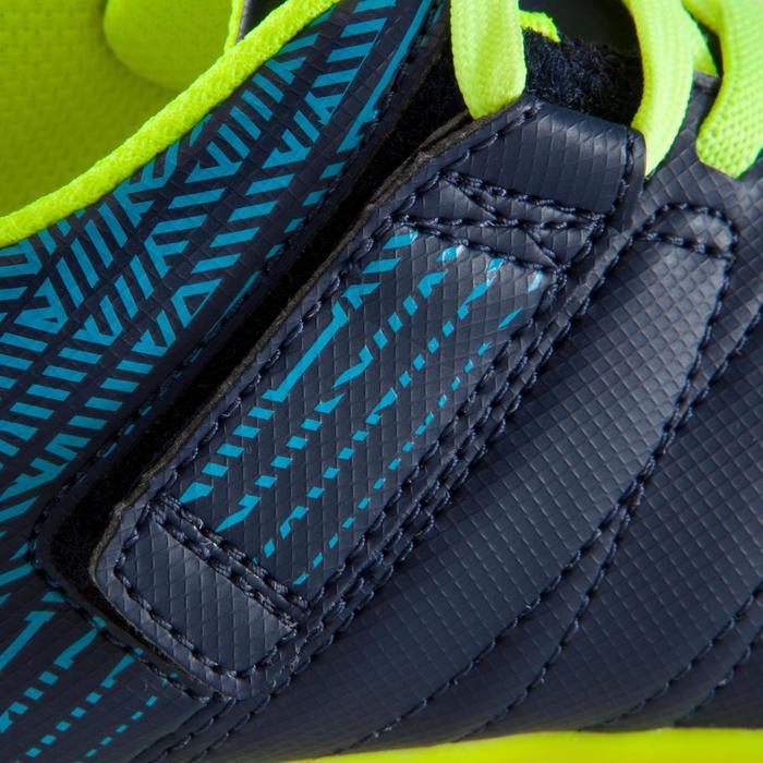 Zaalvoetbalschoenen kind CLR 500 sala klittenband blauw/geel - 1176715