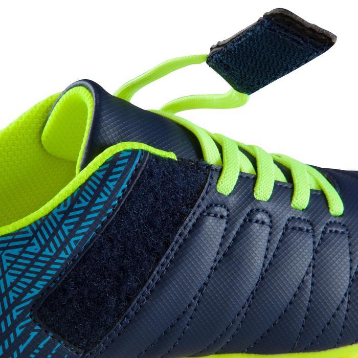 Zaalvoetbalschoenen kind CLR 500 sala klittenband blauw/geel