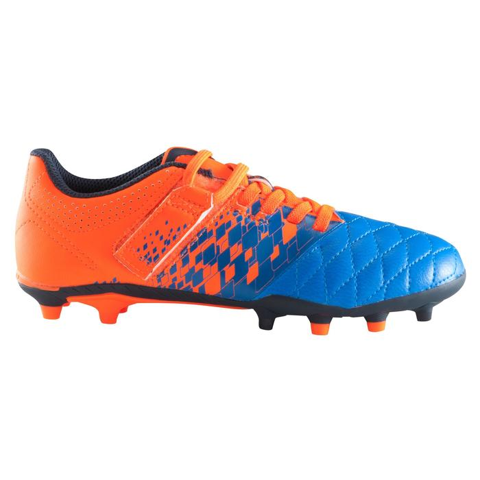 Chaussure de football enfant terrains secs Agility 500 FG bleu orange - 1176735