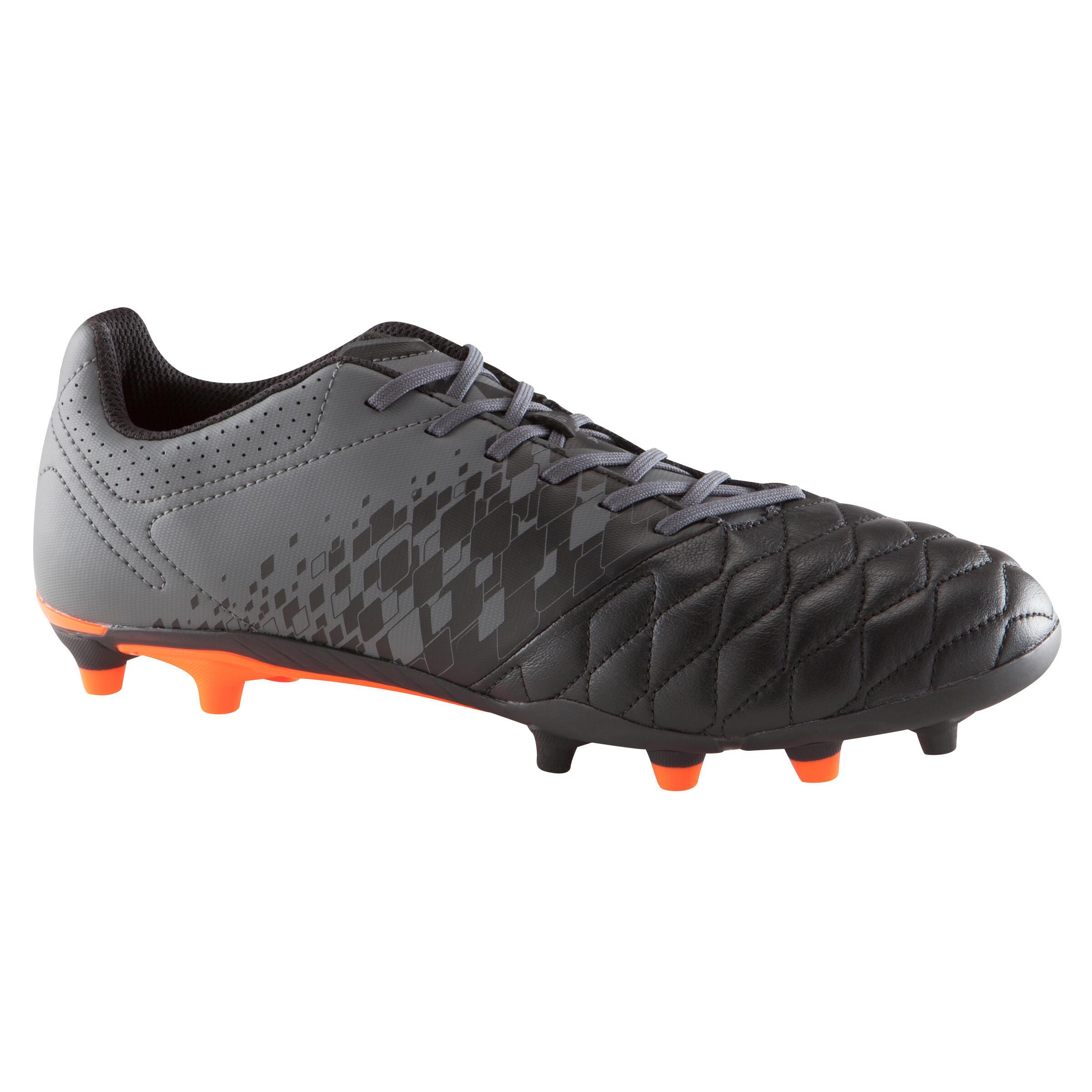 Tenis de fútbol para adulto terrenos secos Agility 900 FG negro gris