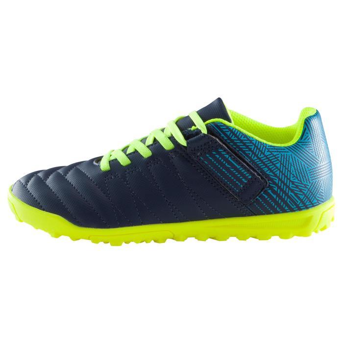 Chaussure de football enfant terrains durs Agility  300 HG à scratch bleue - 1176740