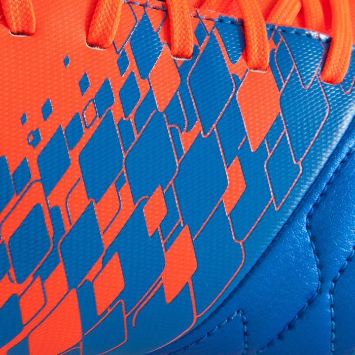 Fußballschuhe Nocken Agility 500 FG Trockene Böden Kinder blau/orange