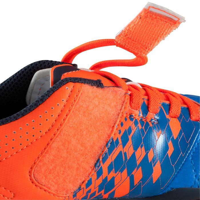 Chaussure de football enfant terrains secs Agility 500 FG bleu orange - 1176753