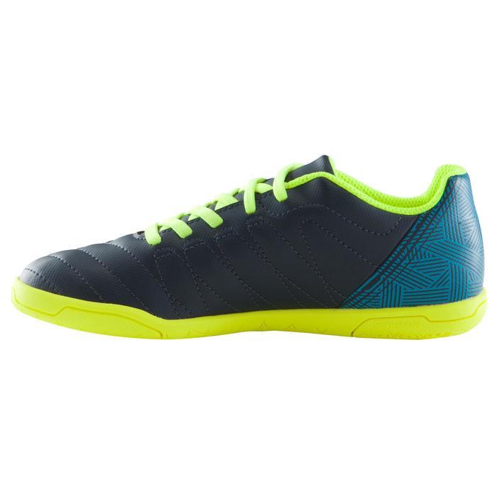 Zaalvoetbalschoenen kind CLR 500 sala klittenband blauw/geel - 1176757