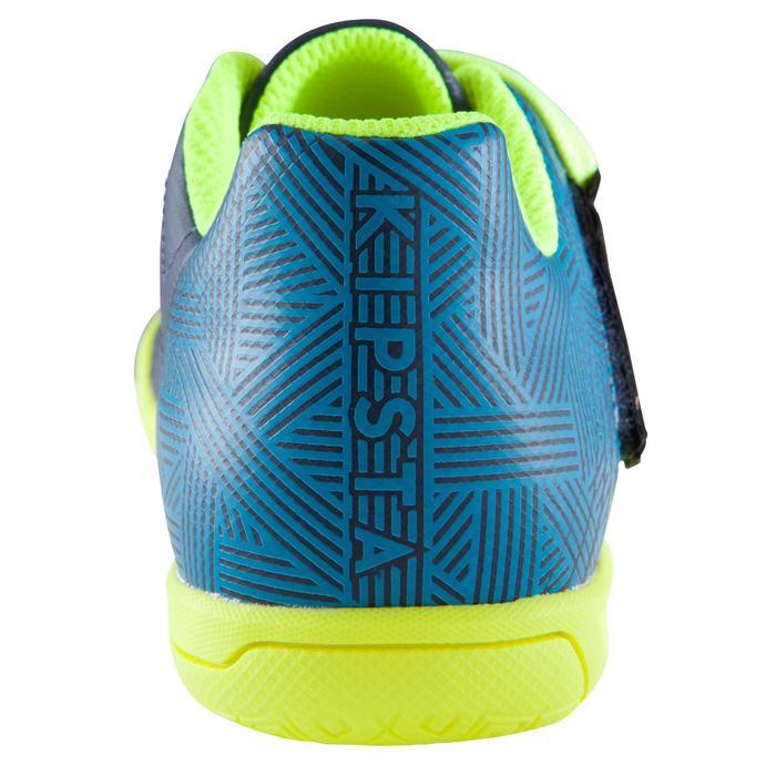 Zaalvoetbalschoenen kind CLR 500 sala klittenband blauw/geel - 1176763