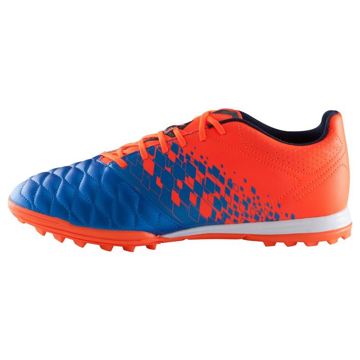 Chaussure de football adulte terrains durs Agility 500 HG bleue orange