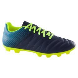 兒童款硬地足球鞋Agility 140 FG-藍色/螢光黃