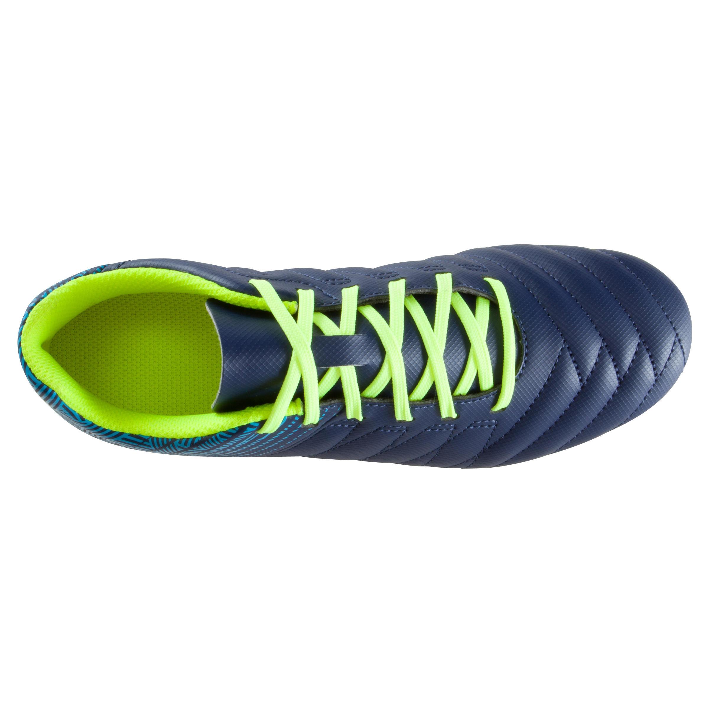 Kids' Football Boots Agility 140 FG - Blue/Neon Yellow