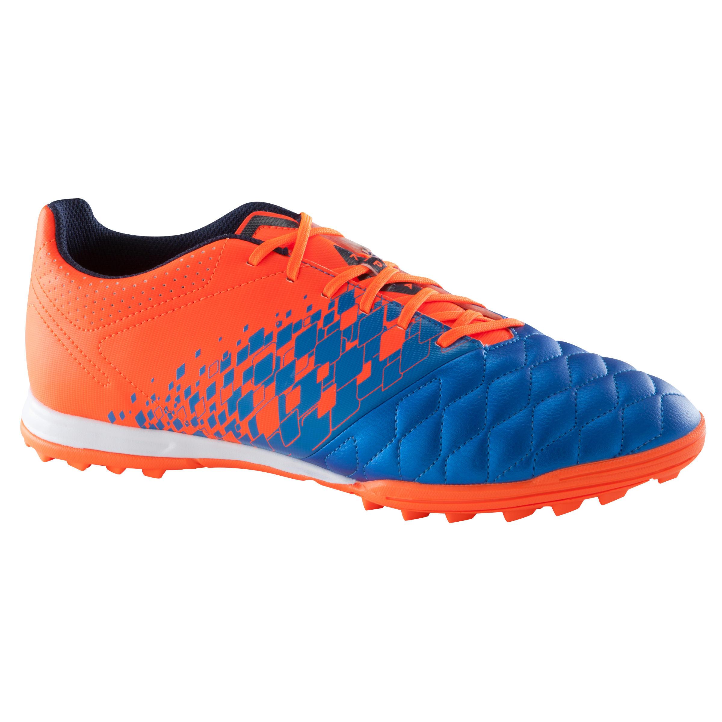 Kipsta Voetbalschoenen Agility 500 HG voor volwassenen blauw/oranje