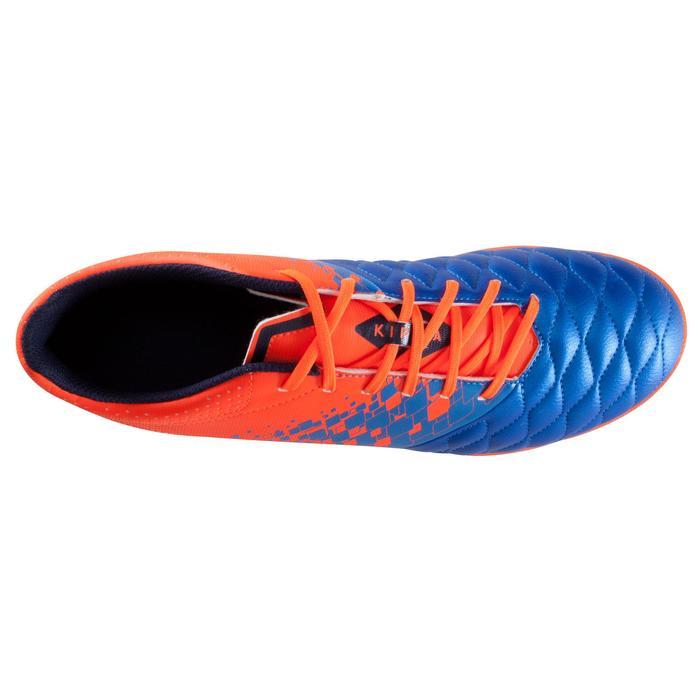 Botas de fútbol para adulto terrenos duros Agility 500 HG azul naranja