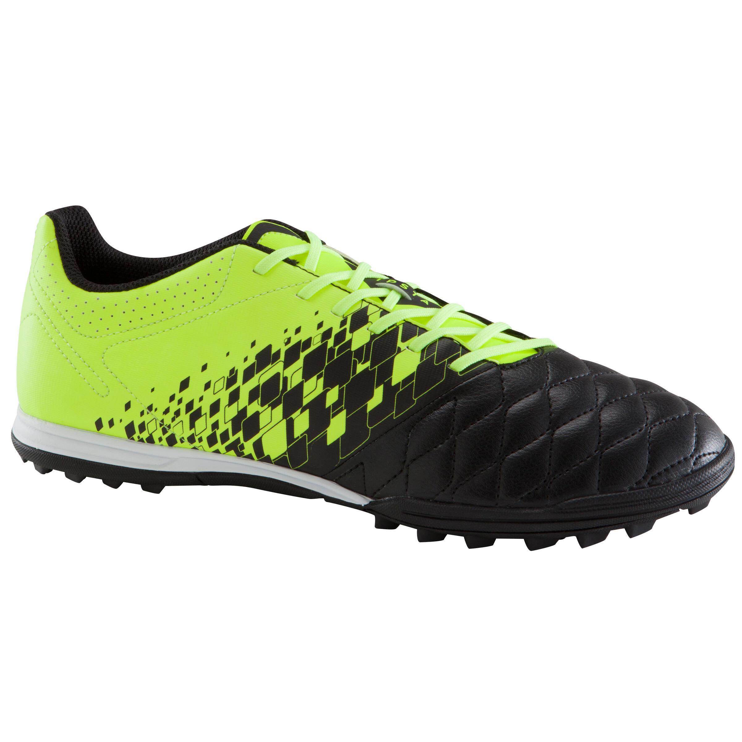 Chaussure de soccer adulte terrains durs Agility 500 HG noire jaune