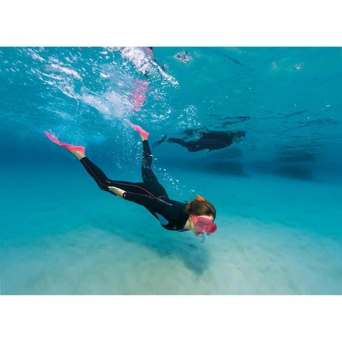 Combinaison intégrale de snorkeling femme 2mm noire turquoise - 1177354