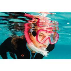 Tubo de snorkel SNK 520 con válvula adulto rosa