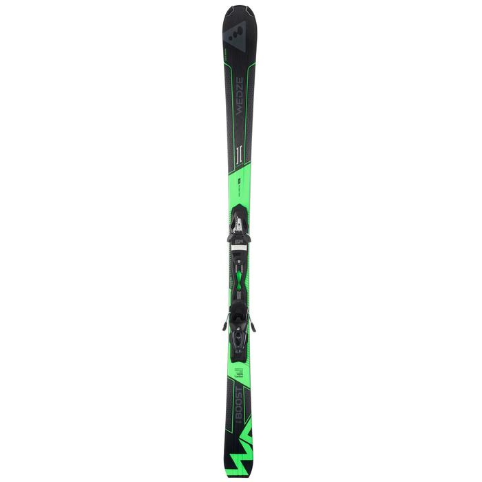 MEN'S ON-PISTE SKIS WITH BOOST 700 BINDINGS BLACK AND GREEN