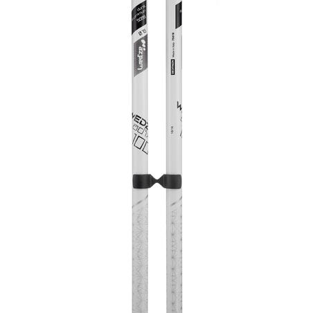 WOMEN'S DOWNHILL SKI POLES ADIX 100 - WHITE