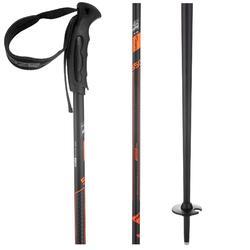 Skistokken voor pisteskiën volwassenen Ski-P Boost 550 Robust zwart