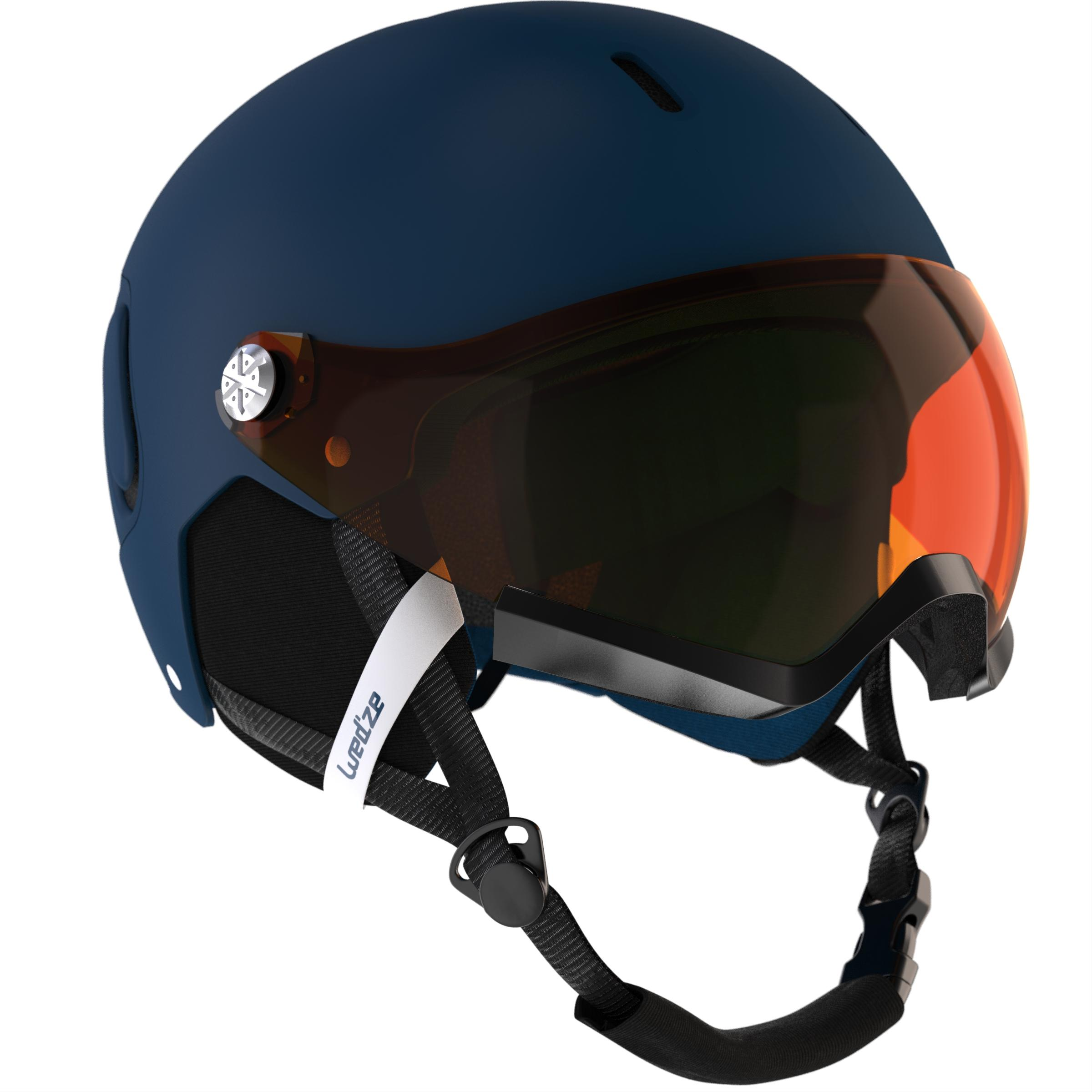 Wed'ze Ski- en snowboardhelm volwassenen Feel 150 S2 blauw thumbnail