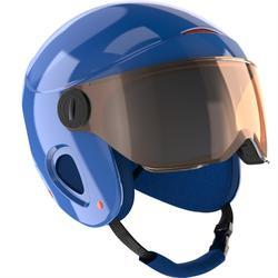 Casque de ski et de snowboard enfant H 450 JR gris.