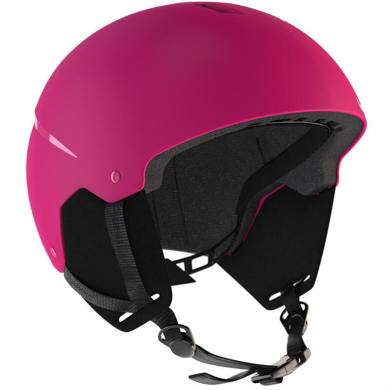 Dětská lyžařská helma H100 růžová