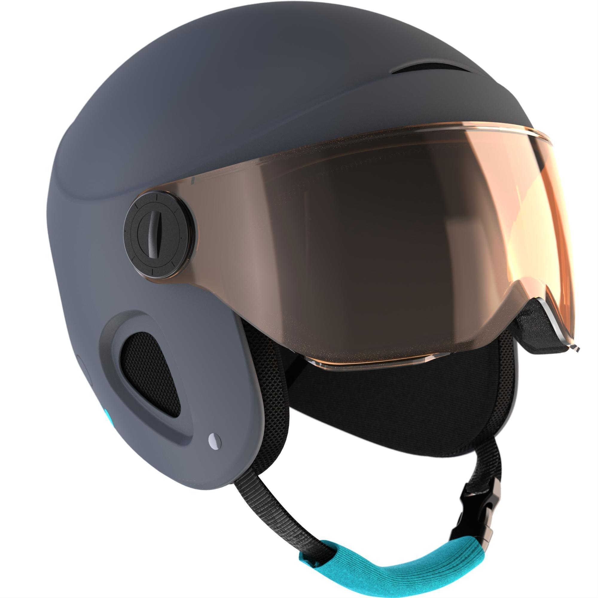 casque de ski et de snowboard enfant h 450 jr gris wedze. Black Bedroom Furniture Sets. Home Design Ideas