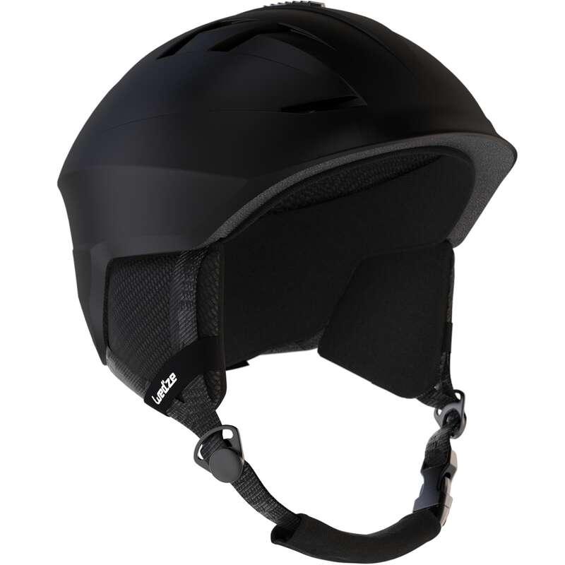SKI AND SNOWBOARD HELMETS - H300 Adult Ski Helmet - Black WEDZE